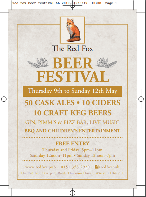 The Red Fox Beer Festival 2019